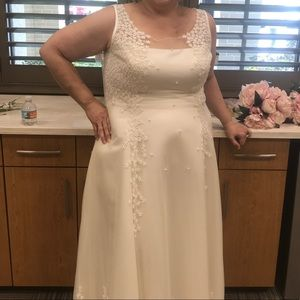 David's bridal Off-white Wedding dress